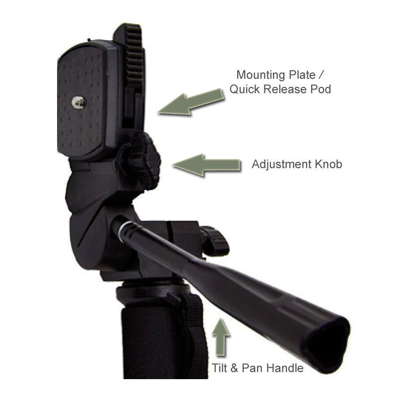 Quick Release for Canon VIXIA HF M301 Professional Black 72 Monopod//Unipod