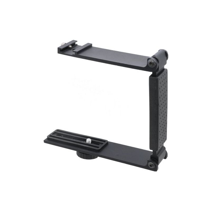 Accommodates Microphones Or Lights Aluminum Mini Folding Bracket for Canon VIXIA HF M32