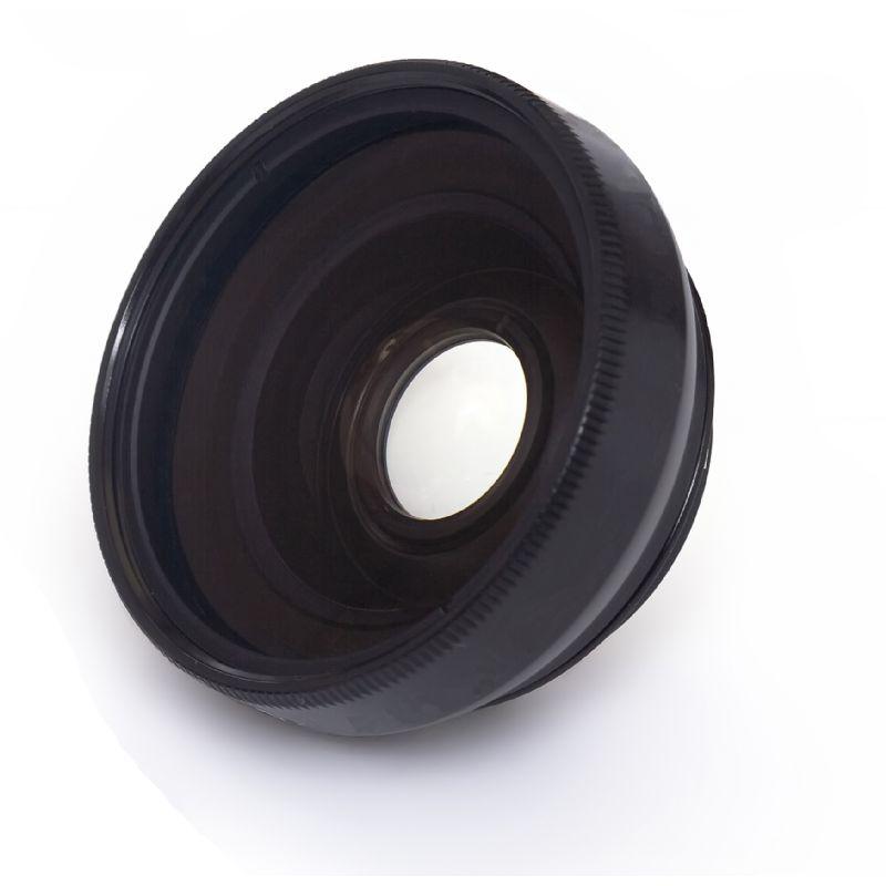 Wide Angle Conversion Lens 37mm Digital Nc 0.45x High Grade Includes Lens Ring Adapter Black for Panasonic Lumix DMC-LX7
