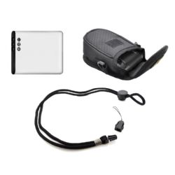 """STUFF I NEED"" Package For Olympus Stylus VH-410 Digital Camera  - Includes: Li-50B High Capacity Replacement Battery + Deluxe Padded Case + Neck Strap"