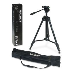"Professional Black Aluminum 74"" Tripod (Bubble Level) For Camera Or Video"